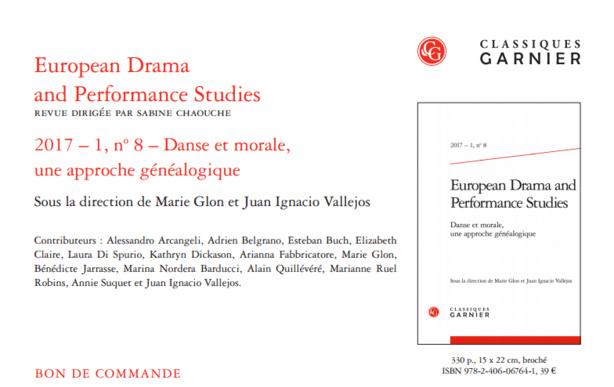 Publication: Danse et Morale (EDPS 8) - Marie Glon et Juan Ignacio Vallejos