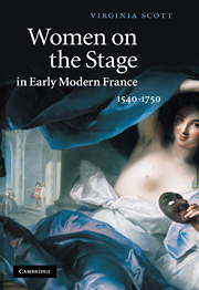 Women on the Stage in Early Modern France: 1540–1750 by Virginia Scott