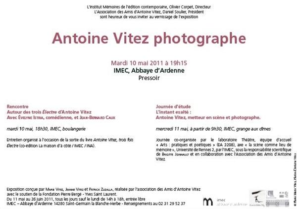 L'instant exalté : Antoine Vitez, metteur en scène et photographe. Poétiques et transmissions.