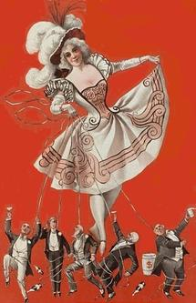 Bon-ton burlesquers (Wikimedia commons)