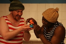 John McGrellis and Matt Christian Reed. OP Production of Bath Time. Photo credit: Charlie Field. Courtesy of OP.