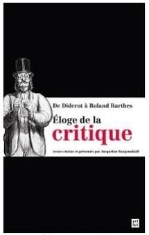 Parution: ELOGE DE LA CRITIQUE. RENCONTRE AVEC JACQUELINE RAZGONNIKOFF.