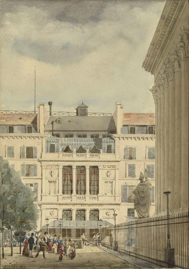 Maurice-Sidoine Storez, (1804-1881) Le Théâtre des Nouveautés, 1828 Paris, musée Carnavalet © Musée Carnavalet / Roger-Viollet