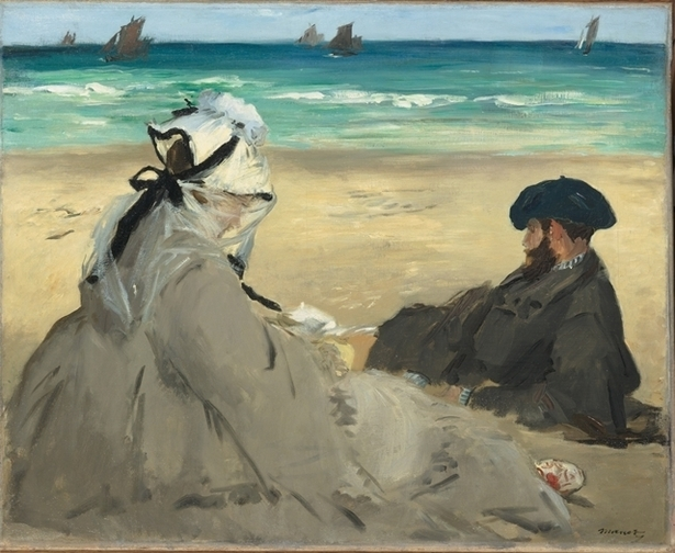 Ėdouard Manet, 1832-1883  Sur la plage, 1873  Huile sur toile, 59,5 x 73 cm  Paris, musée d'Orsay  © Musée d'Orsay, dist. RMN / Patrice Schmidt