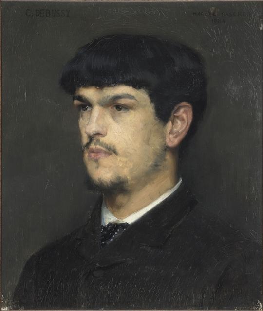 Marcel Baschet, 1862-1941  Portrait de Claude Debussy, 1865  Huile sur bois d'acajou foncé, 25 x 21,5 cm  Paris, musée d'Orsay  © ADAGP, Paris 2012  © RMN (musée d'Orsay) / Hervé Lewandowski