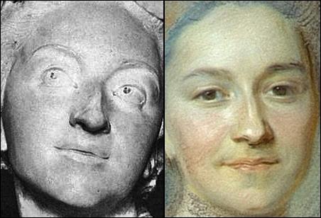 Etude comparée du buste par Le Moyne et du portrait de La Tour