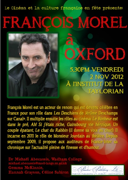 François Morel à Oxford!