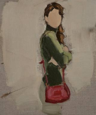 Green Turtleneck, 2013. Courtesy Galerie Karsten Greve Paris.