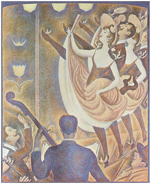 "Wikicommons. Seurat, ""Cancan"""