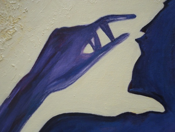 Painting: Shadow 2 (Sabine Chaouche)