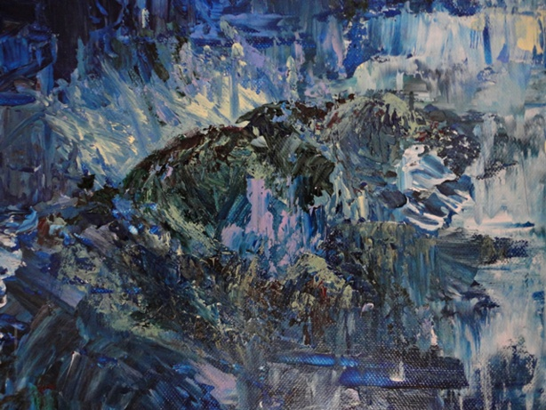 Painting: Pluie (Sabine Chaouche)