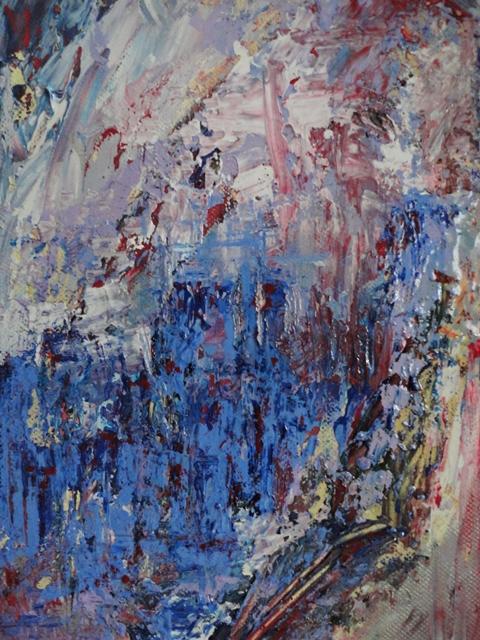 Painting: Sous la Pluie. Deux Parisiennes. (Sabine Chaouche)