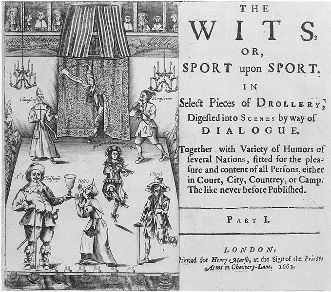 wikicommons, The Wits, or Sport upon Sport frontispiece