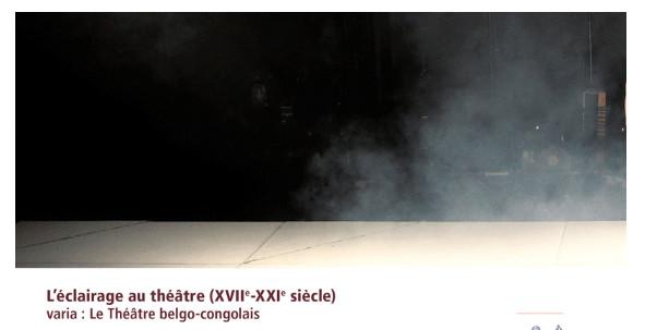 Parution : Revue d'Histoire du Théâtre | L'Eclairage au Théâtre (n°273)
