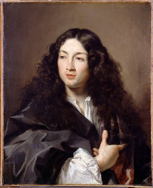 Claude Lefebvre, A man called Michel Baron, c1670, Wikicommons