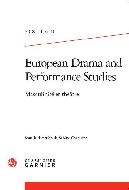 Parution : Masculinité et théâtre, S. Chaouche (dir.)