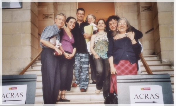 (c) Acras. De gauche à droite: Buford Norman, Laura Naudeix, Bertrand Porot, Eugenia Roucher, Virginie Garandeau, Nathalie Lecomte et Rebecca Harris-Warrick