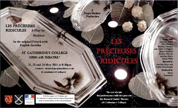 Oxford event: 'Les Précieuses Ridicules' by Molière. St Catherine's College Open Air Theatre