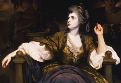Sarah Siddons as the Tragic Muse Studio of Sir Joshua Reynolds, 1784 ©Cobbe Collection, Hatchlands Park