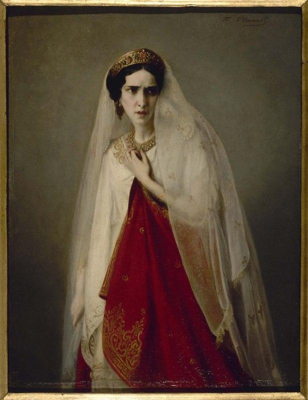 Rachel dans le rôle de Phèdre par F.O'Connell © Musée Carnavalet. Roger-Viollet