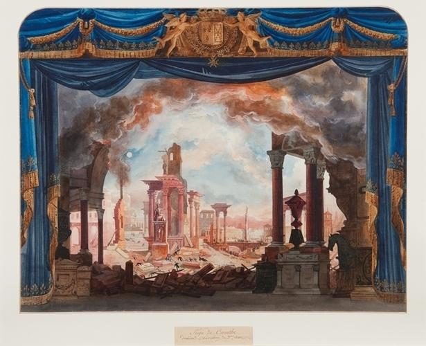 Le Siège de Corinthe, 1826, Auguste Caron d'après Cicéri © BnF Bibliothèque – musée de l'Opéra de Paris