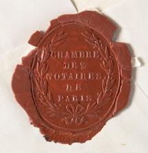 Sceau des notaires du Chatelet (c) Archives Nationales