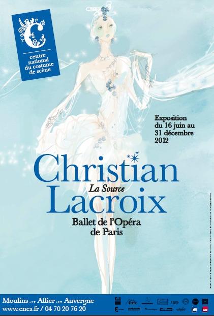 """CNCS: Exposition """"Christian Lacroix, La Source, Ballet de l'Opéra de Paris""""."""