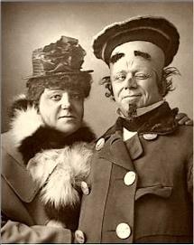 Harry Nicholls and Herbert Campbell 1888.