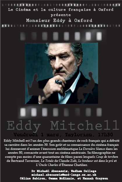 Le Cinéma et la culture française à Oxford présente:  Monsieur Eddy à Oxford