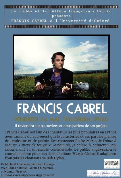 Francis Cabrel à Oxford !