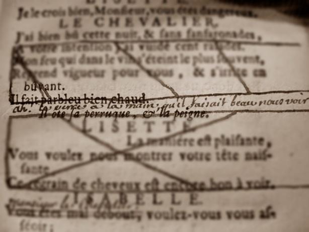 Les épreuves du texte théâtral au XVIIIe siècle. Par Sabine Chaouche.