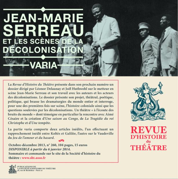 Revue d'Histoire du Théâtre n°260 : Jean-Marie Serreau et les scènes de la décolonisation