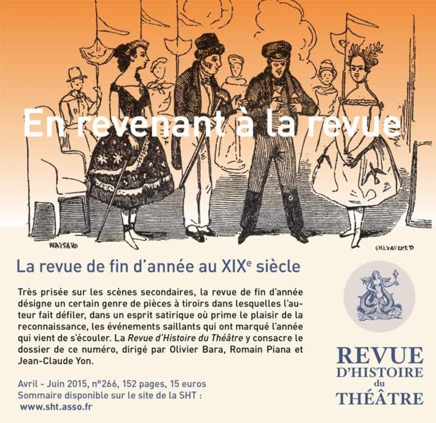 Revue d'Histoire du Théâtre : En revenant à la revue