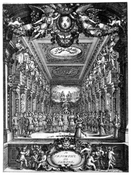 Benserade, Quinault, Lully, 'Le Triomphe de l'amour' Graveur : Daniel, I. Marot CESAR UOID 353326