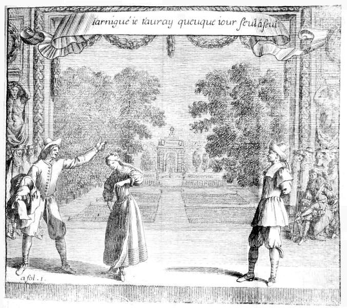Brécourt, 'La Noce de village', sc. 2 ; Théâtre de Brécourt, Paris, 1666 CESAR UOID 334414