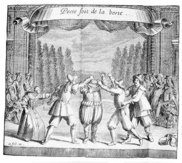 Brécourt, 'La Noce de village', sc. 3 ; Théâtre de Brécourt, Paris, 1666 CESAR UOID 334415