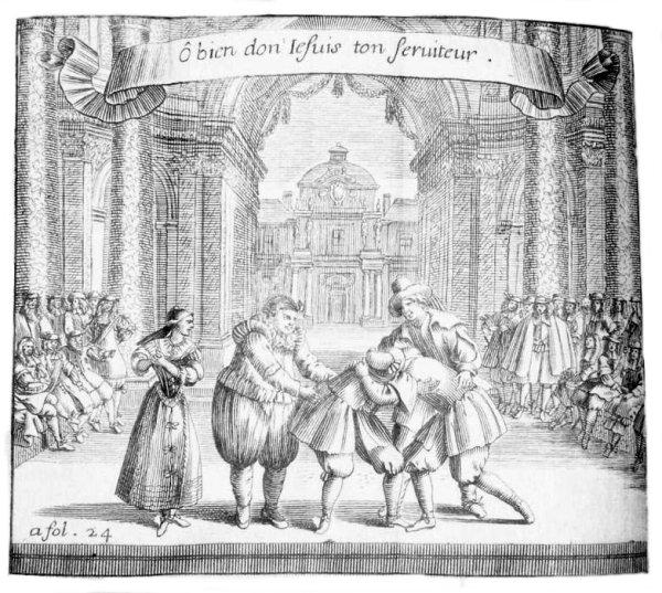 Brécourt, 'La Noce de village', sc. 4 ; Théâtre de Brécourt, Paris, 1666 CESAR UOID 334416