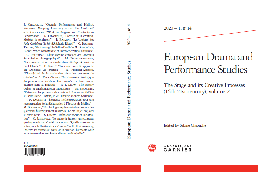 Publication: The Stage and its Creative Processes. Sabine Chaouche (ed.) - vol. 2