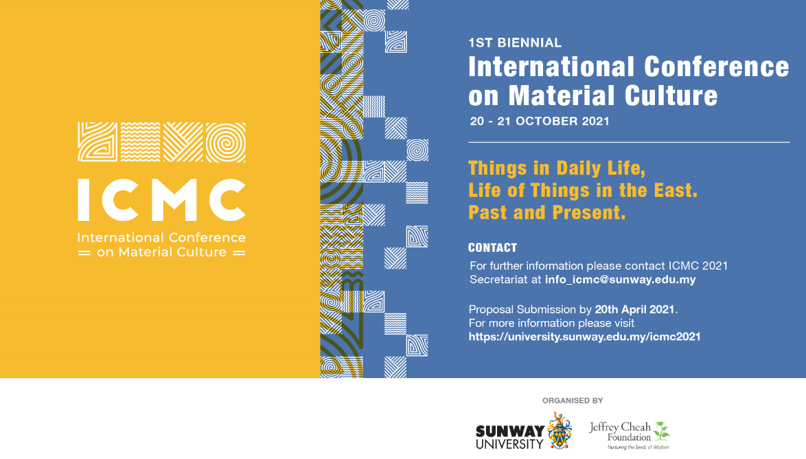 Call for Paper: International Conference on Material Culture. Things in Daily Life/ Life of Things in the East. Past and Present