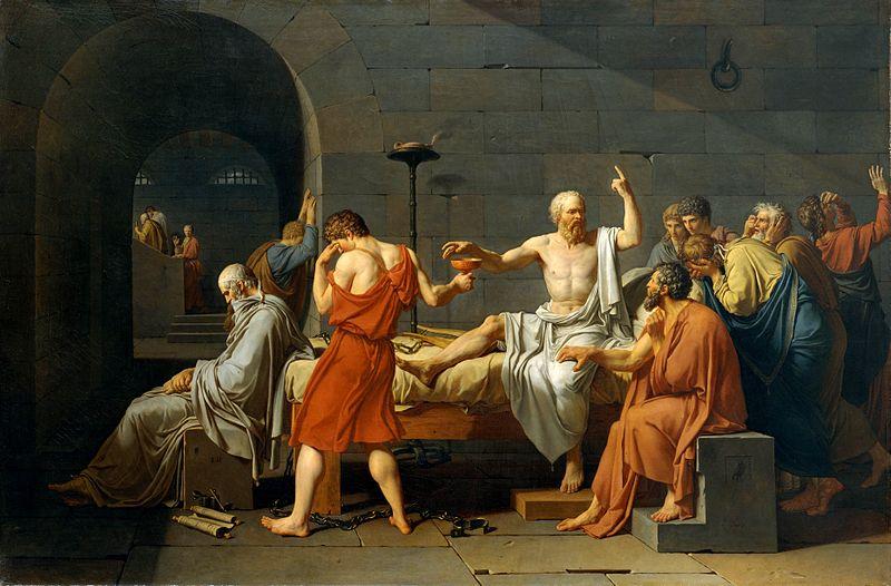 Mort de Socrate par David, wikicommons
