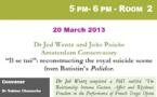 Theatre Seminar, Taylor Institution, Oxford, 20th March